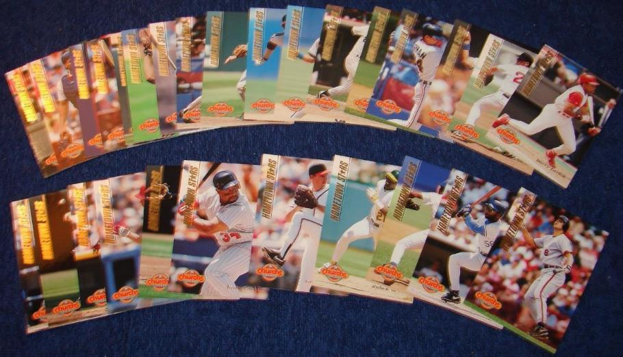 1994 Church's Chicken Hometown Stars - Complete GOLD SET (28) Baseball cards value