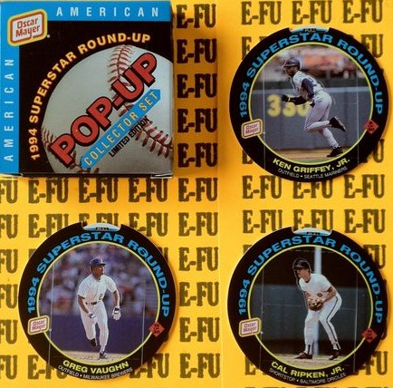 1994 Oscar Mayer 'Pop-Ups' - Complete 15-card American League Boxed Set Baseball cards value