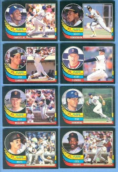 1991 Fleer All-Star #.7 Ken Griffey Jr. (Mariners) Baseball cards value