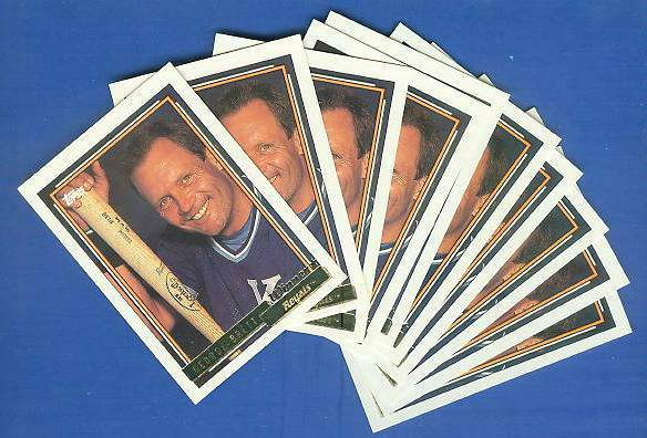 1992 Topps GOLD WINNER #620 George Brett - LOT OF (25) (Royals) Baseball cards value