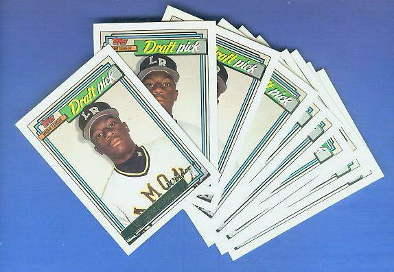 1992 Topps GOLD WINNER #714 Calvin 'Pokey' Reese ROOKIE - LOT OF (25) Baseball cards value