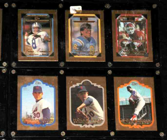 Nolan Ryan - 1992 Bleachers 23 KARAT GOLD 3-card SET !!! Baseball cards value
