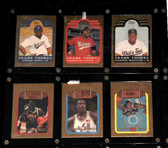 Frank Thomas - 1991 Bleachers 23 KARAT GOLD 3-card SET !!! Baseball cards value