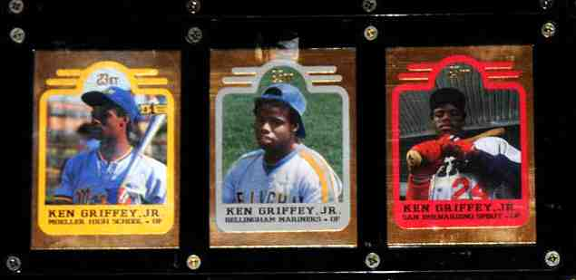 Ken Griffey Jr - 1991 Bleachers 23 KARAT GOLD 3-card SET !!! Baseball cards value