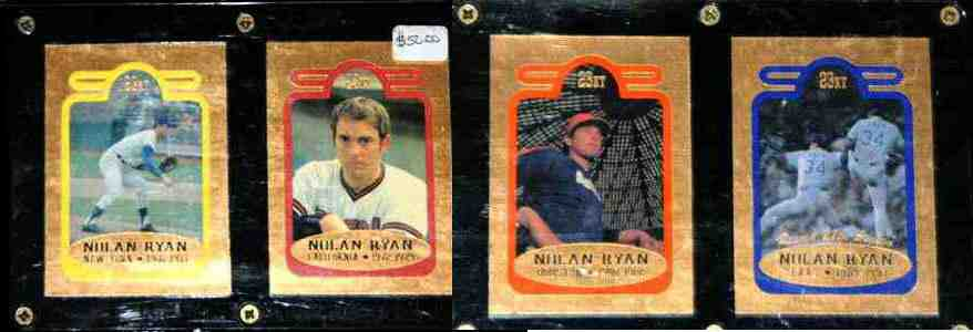 Nolan Ryan - 1993 Bleachers 23 KARAT GOLD 4-card SET !!! Baseball cards value