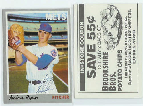 Nolan Ryan - [1970 Topps] 1993 Brookshire Bros. Coupon (Mets) Baseball cards value