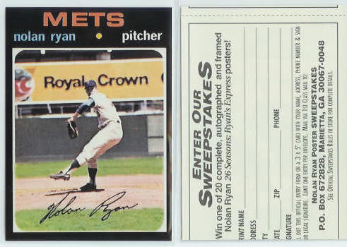 Nolan Ryan - [1971 Topps] 1993 Brookshire Bros. Coupon (Mets) Baseball cards value