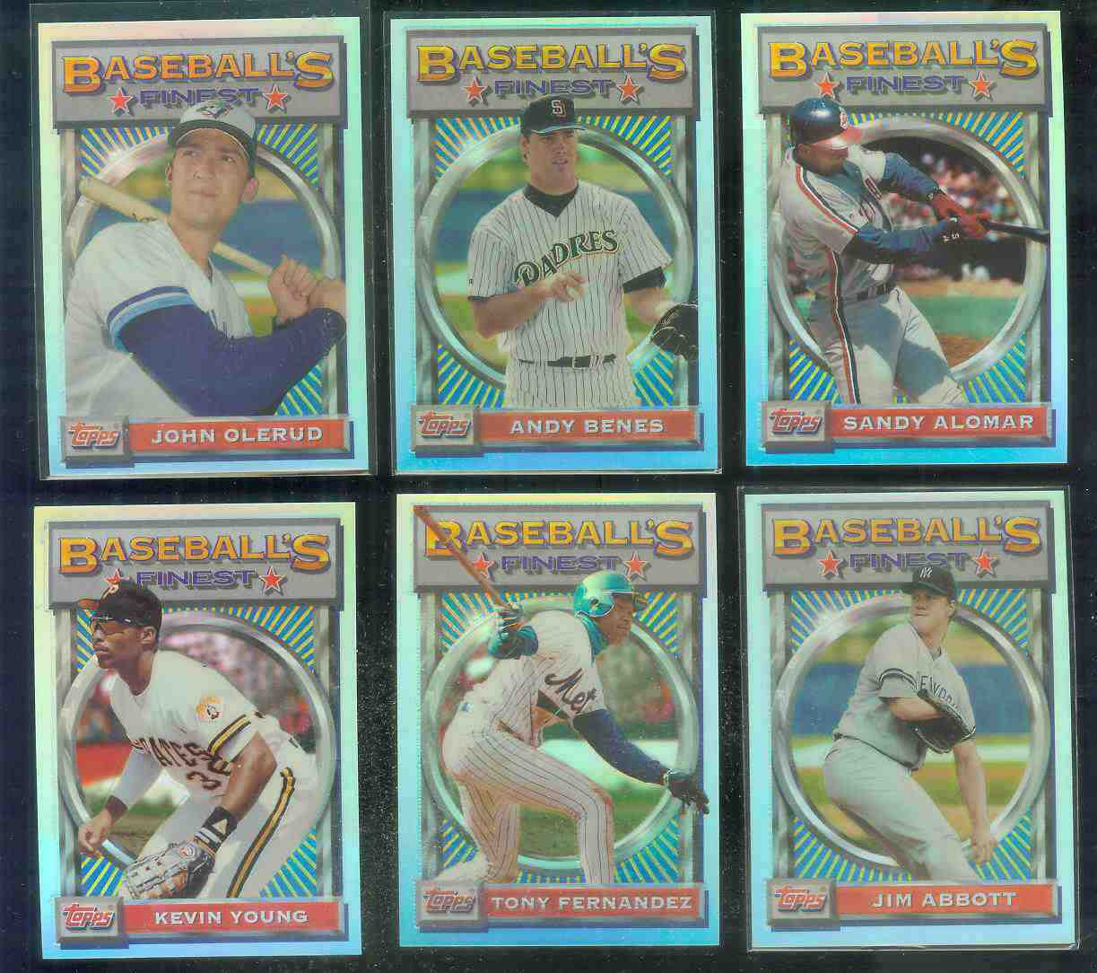 1993 Finest REFRACTOR #.46 Jim Abbott Baseball cards value