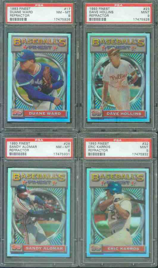 1993 Finest REFRACTOR # 32 Eric Karros Baseball cards value