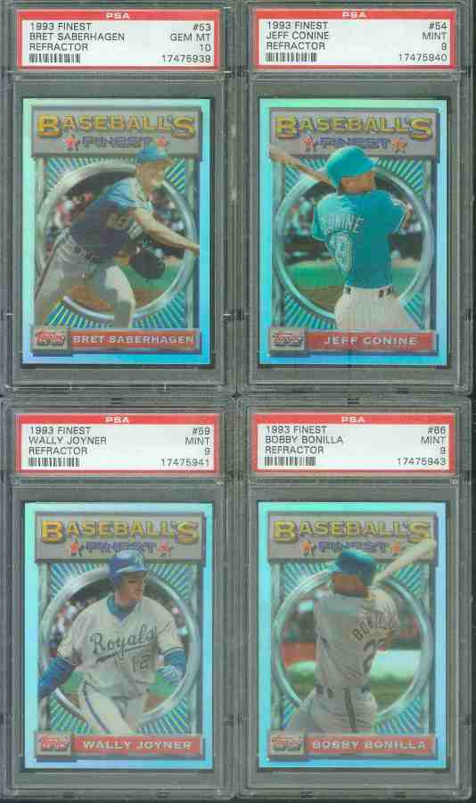 1993 Finest REFRACTOR #.59 Wally Joyner Baseball cards value
