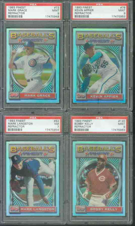 1993 Finest REFRACTOR #.73 Mark Grace (Cubs) Baseball cards value