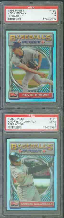 1993 Finest REFRACTOR #134 Kevin Brown SHORT PRINT Baseball cards value