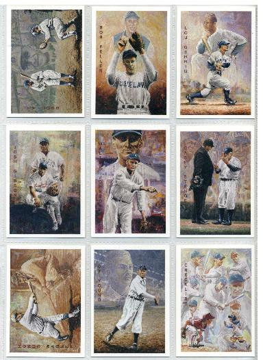1994 Ted Williams Co. -Locklear Collection -COMPLETE SET Series 2 (#10-19) Baseball cards value