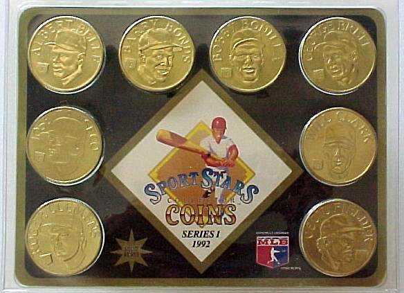 1992 Sport Stars Collector Coins - Complete Set #1 (8 coins,SEALED !) Baseball cards value