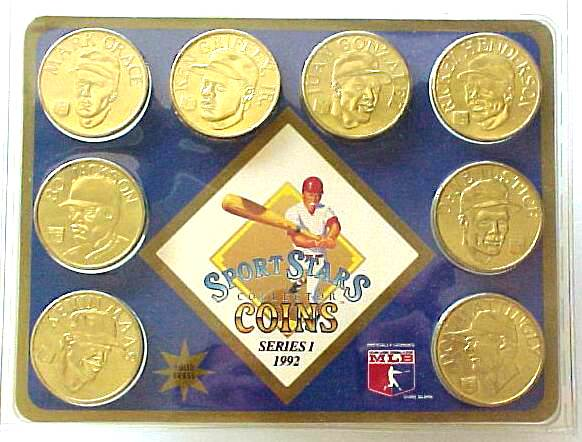 1992 Sport Stars Collector Coins - Complete Set #2 (8 coins,SEALED !) Baseball cards value
