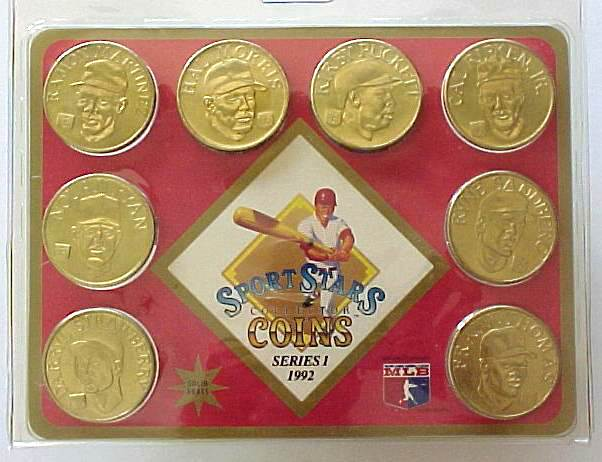1992 Sport Stars Collector Coins - Complete Set #3 (8 coins,SEALED !) Baseball cards value