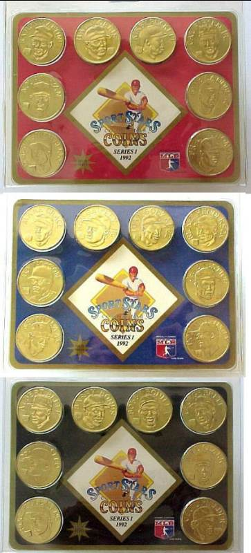 1992 Sport Stars Collector Coins - (3) Complete SEALED Sets (#1,#2,#3) Baseball cards value