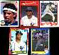 Deion Sanders - Lot of ( 5) 1990 ROOKIE cards - ALL DIFFERENT !!! (Yankees)