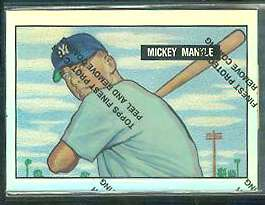 1996 Topps Mickey Mantle (1951 Bowman) FINEST REFRACTOR insert #1 Baseball cards value