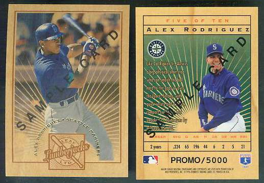 Alex Rodriguez - 1996 Leaf Limited LUMBERJACKS PROMO Baseball cards value