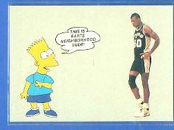Bart Simpson / David Robinson - 'This is Barts Neighborhood Dude !' Non-Sport cards value