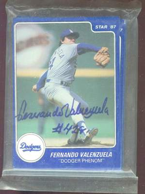 Fernando Valenzuela - 1987 Star Company AUTOGRAPHED Complete 13-card set Baseball cards value
