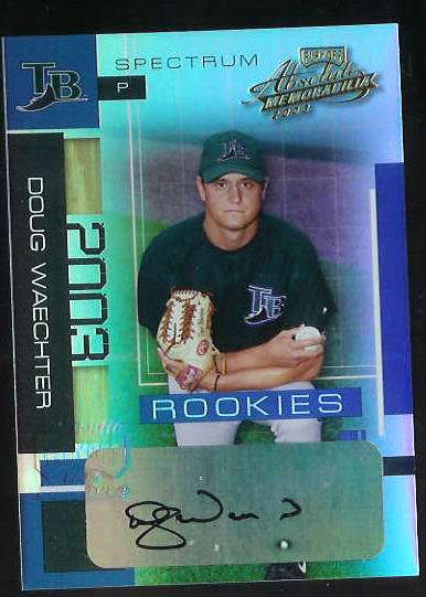 Doug Waechter - 2003 Playoff Absolute Mem. #180 AUTOGRAPH (Devil Rays) Baseball cards value