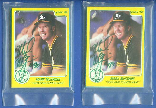 Mark McGwire - 1988 Star Company AUTOGRAPHED #189 Complete 11-card set Baseball cards value