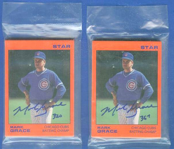 Mark Grace - 1988/89 Star Company AUTOGRAPHED #320 Complete 11-card set Baseball cards value