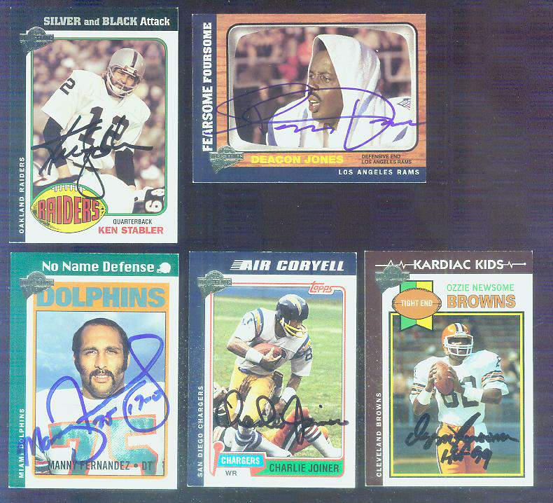Manny Fernandez - 2005 Toops All Time Fan Favorites AUTOGRAPHED Football cards value