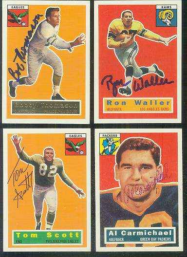 1956 Topps Archives FB #102 Ron Waller AUTOGRAPHED Football cards value