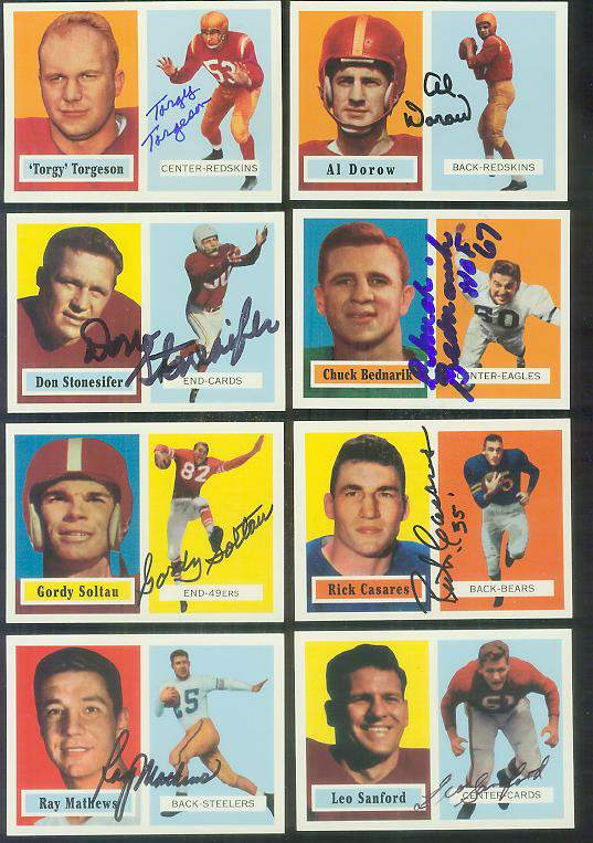 1957 Topps Archives FB # 38 Don Stonesifer AUTOGRAPHED Football cards value