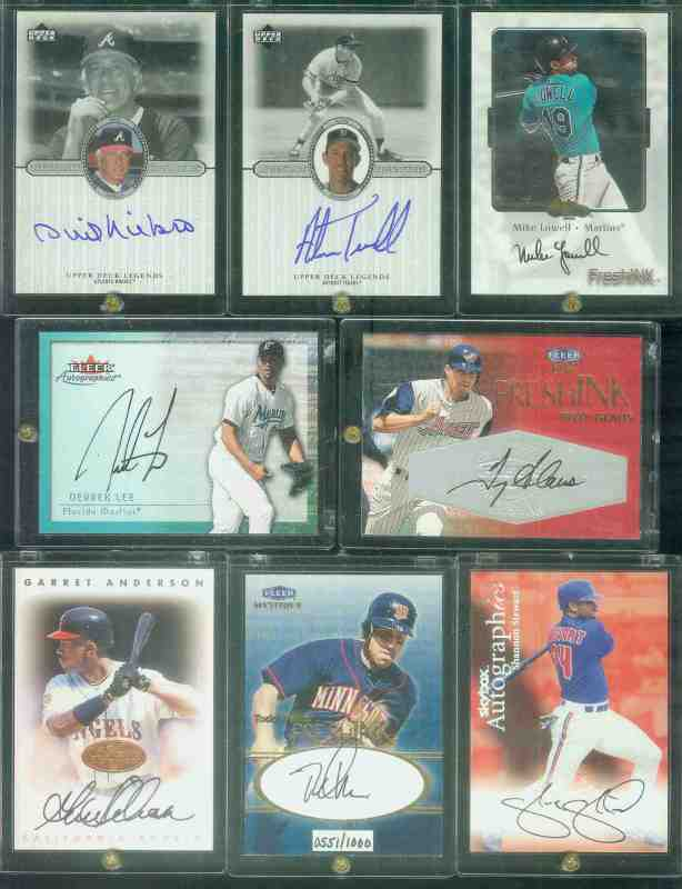 Derrek Lee - 2000 Fleer 'Autographics' AUTOGRAPH (Marlins) Baseball cards value