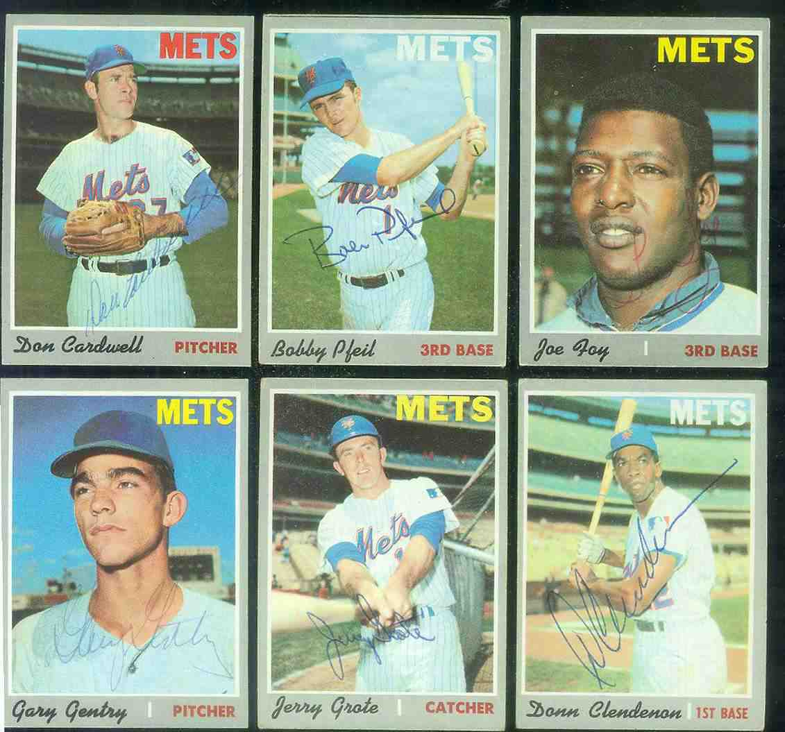 1970 Topps #153 Gary Gentry AUTOGRAPHED (Mets) Baseball cards value