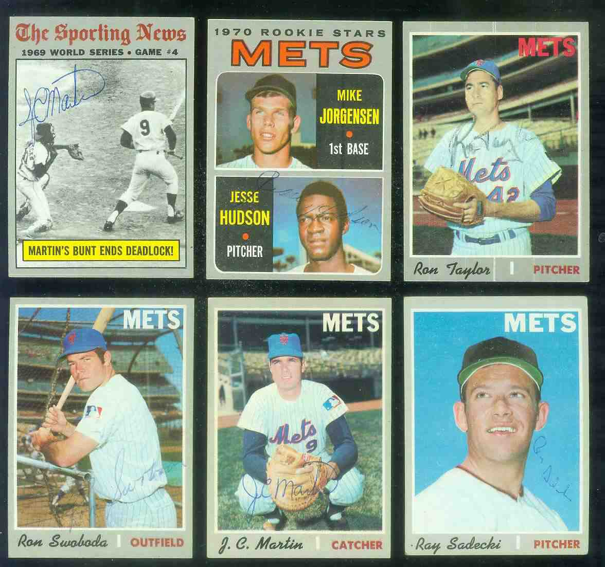 1970 Topps #308 World Series Game #4 AUTOGRAPHED by J.C. Martin (Mets) Baseball cards value