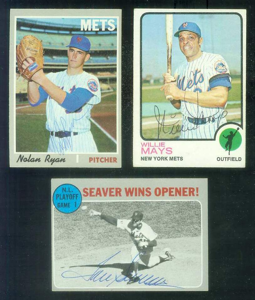 1970 Topps #195 N.L Playoff Game #1 AUTOGRAPHED by TOM SEAVER (Mets) Baseball cards value