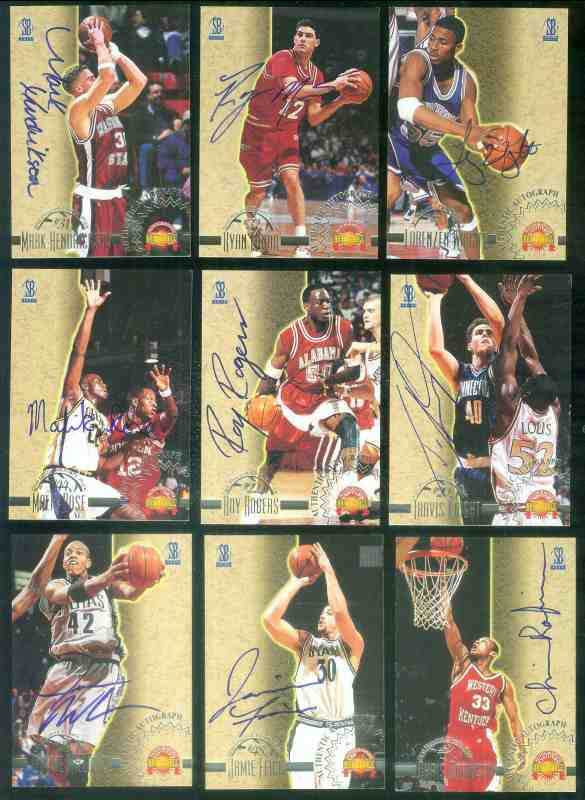 1996 Score Board Autographed BK AUTOGRAPHS #34 Chris Robinson Basketball cards value