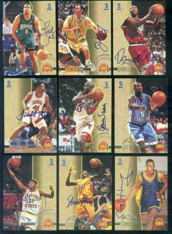 1996 Score Board Autographed BK AUTOGRAPHS #37 Darnell Robinson Basketball cards value
