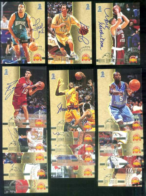 1996 Score Board Auto Basketball AUTOGRAPHS - Lot of [18] different Basketball cards value