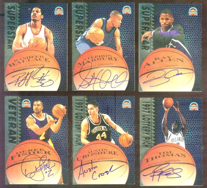 1997 Score Board Autographed # 1 Ray Allen SHORT PRINT Basketball cards value