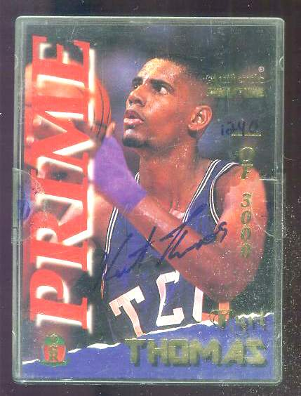 1995 Signature Rookies PRIME AUTOGRAPHED #40 Kurt Thomas (Texas Christian) Basketball cards value