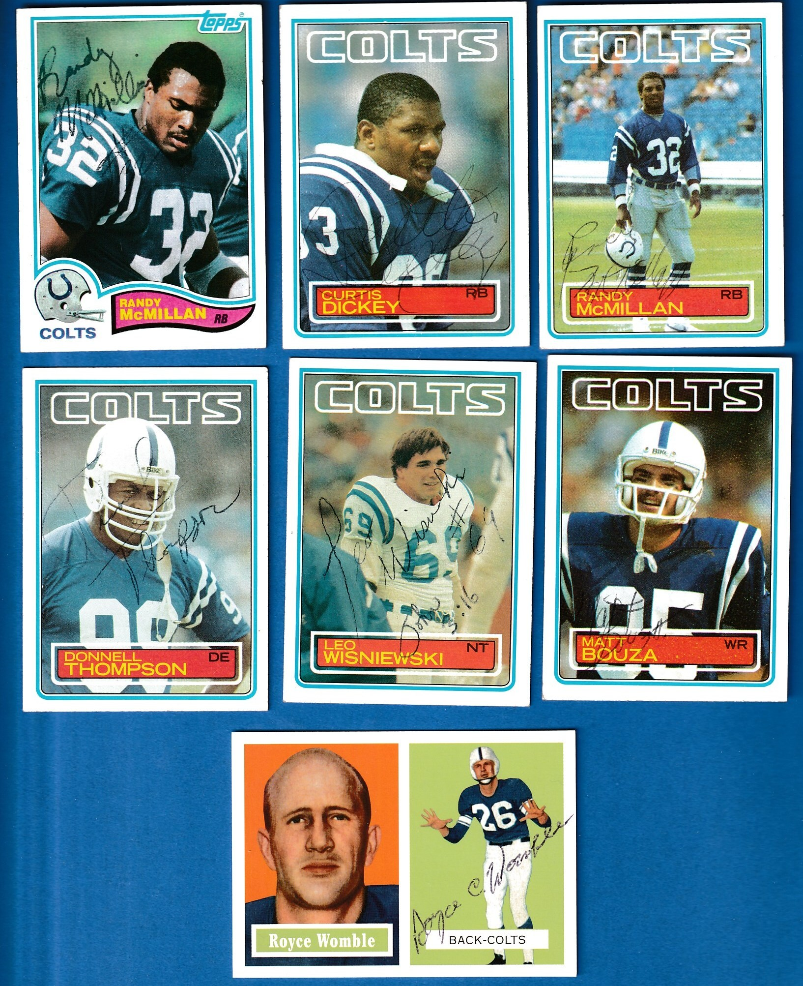 Baltimore COLTS - Team Lot of (7) AUTOGRAPHED cards (1982-2000+) Baseball cards value