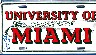 Jim Otto 'OO' - AUTOGRAPHED University of Miami Hurricanes License Plate