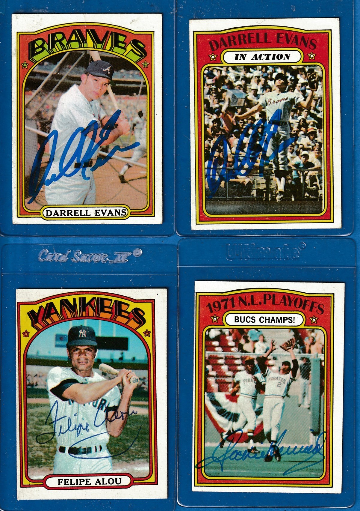 AUTOGRAPHED: 1972 Topps #171 Darrell Evans w/PSA/DNA Auction LOA (Braves) Baseball cards value