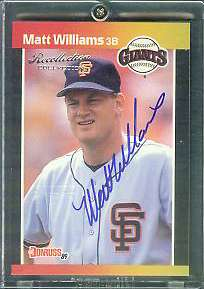 Matt Williams - 2004 Donruss Timelines Recollection AUTOGRAPH (Giants) Baseball cards value