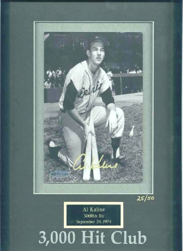 Al Kaline - UDA LIMITED EDITION Autographed 3,000 Hit Club photo Baseball cards value