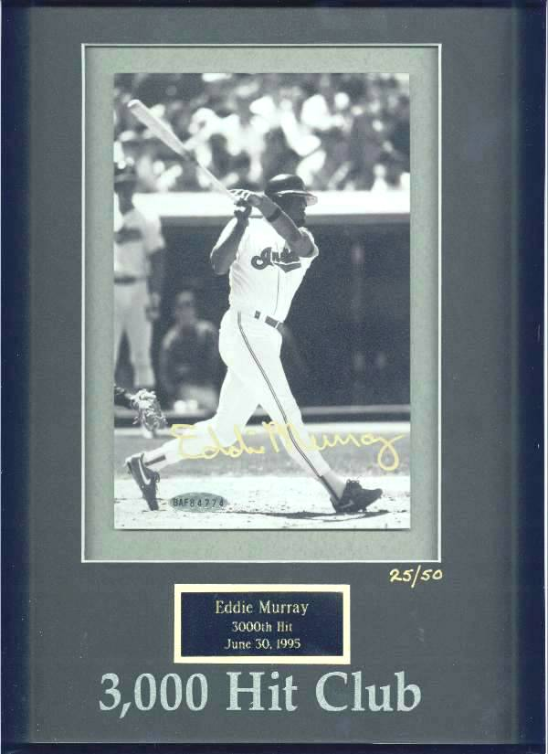 Eddie Murray - UDA LIMITED EDITION Autographed 3,000 Hit Club photo (Oriol Baseball cards value