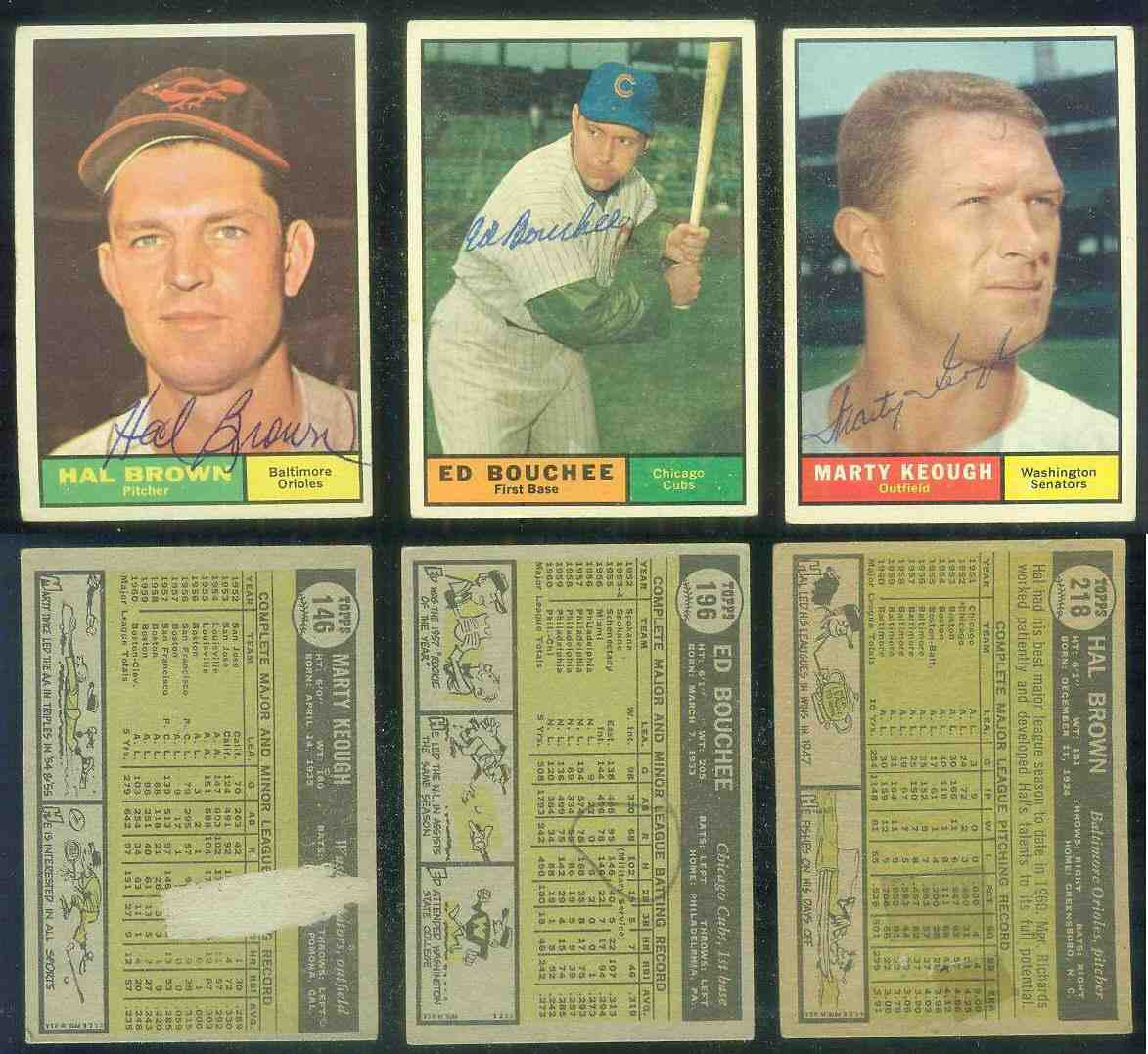 1961 Topps AUTOGRAPHED #146 Marty Keough w/PSA/DNA Auction LOA (Senators) [ Baseball cards value