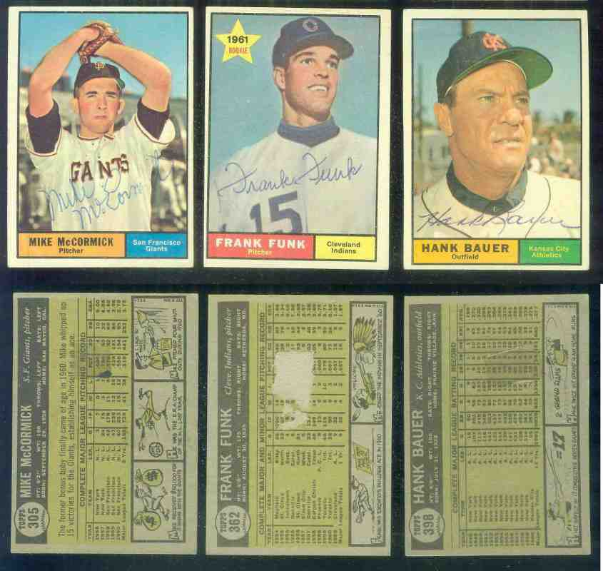 1961 Topps AUTOGRAPHED #305 Mike McCormick w/PSA/DNA Auction LOA (Giants) [ Baseball cards value