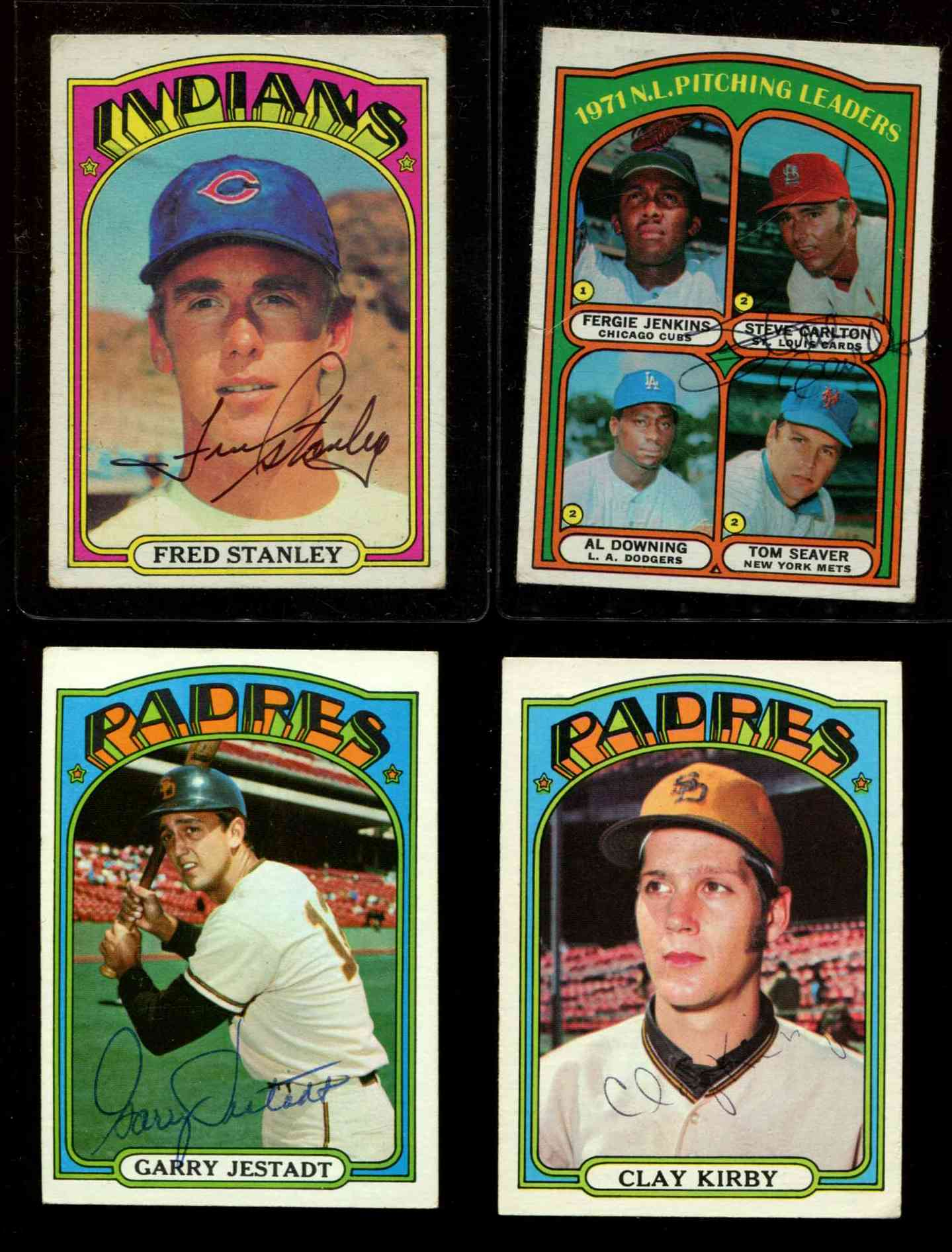 AUTOGRAPHED: 1972 Topps # 93 STEVE CARLTON NL Pitching Leaders PSA/DNA LOA Baseball cards value